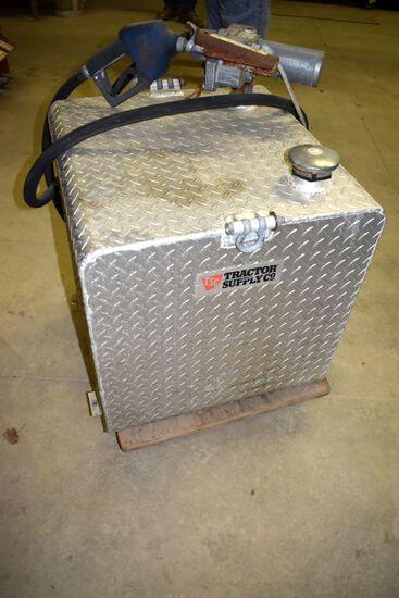 65 Gallon Aluminum Pickup Fuel Tank, 12 Volt GPI Pump