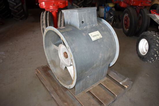 """Spread-All MFG Model 241000, 10 HP 24"""" Bin Fan, Single Phase"""