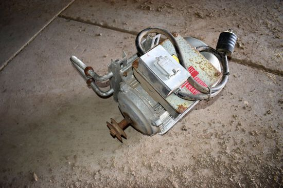 2 HP Single Phase Electric Motor, Used For Bin Sweep