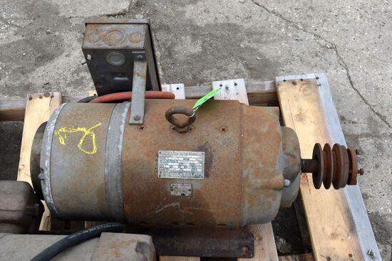 5HP Single Phase Electric Motor, Used