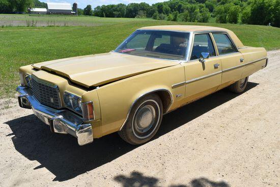 1976 Chrsyler Newport 4 Door Car, 61,375 Miles, Original Miles, Tan In Color, VIN: CL41N6D175104