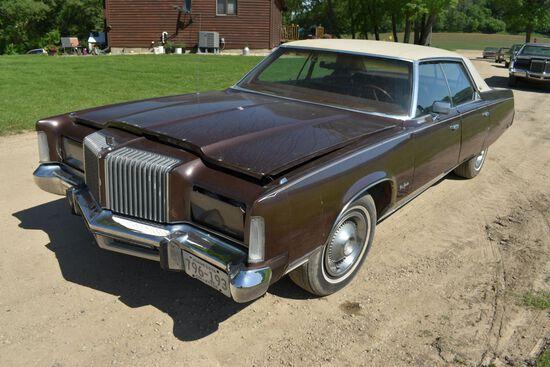 1978 Chrysler New Yorker 4 Door Car, 22,647 Miles Showing, Brown In Color, VIN: CS43T6C136704
