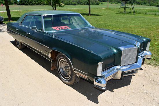 1978 Chrysler New Yorker 4 Door Car, 99,569 Miles Showing, Green In Color, VIN: CS43N8C171504