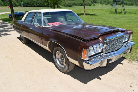 1975 Chrysler New Yorker 4 Door Car, 64,474 Miles Showing, Brown In Color, VIN: CS41T5C107718