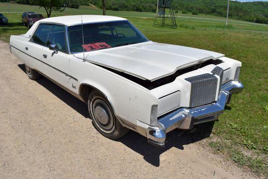 1975 Chrysler Imperial 4 Door Car, 16,247 Miles Showing, White In Color, VIN: YM43T5C136228