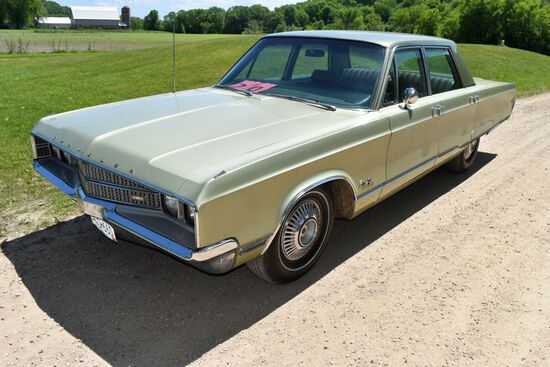 1968 Chyrsler New Yorker 4 Door Car, 67,946 Miles Showing, Green In Color, One Owner Car, VIN: CH41K