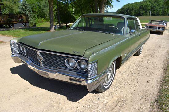 1968 Chrysler Imperial 2 Door Car, 111,110 Miles Showing, Green In Color, VIN: YM23K8C260973