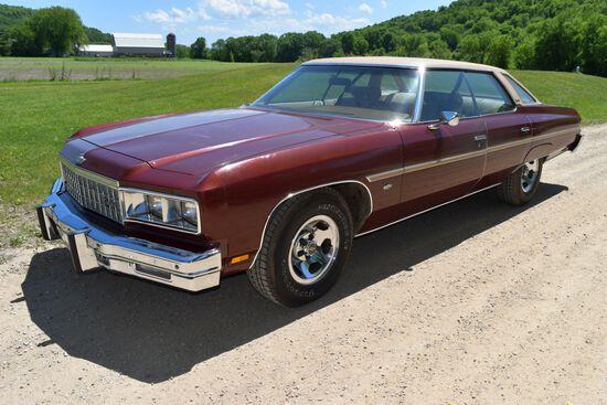 1976 Chevrolet Caprice 4 Door Car, 65,394 Miles, Original Miles, Maroon In Color, VIN: 1N39V6J178688