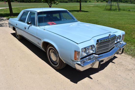 1977 Chrysler Newport 4 Door Car, 52,726 Miles, Original Miles, Baby Blue In Color, VIN: CL41N7D2519