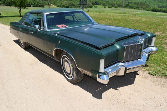 1974 Chrysler Imperial 4 Door Car, 75,153 Miles Showing, Dark Green In Color, VIN: YM43T4C139582