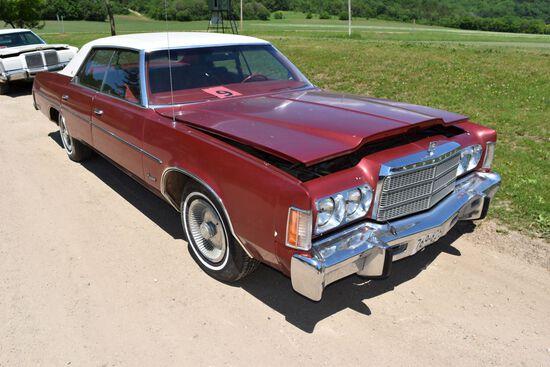 1978 Chrysler Newport 4 Door Car, 71,231 Miles Showing, Maroon In Color, VIN: CL43N8C162253