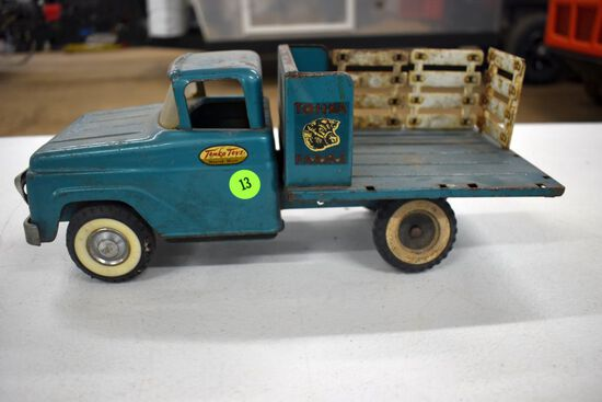 1960s Tonka Farms Stake Bed Truck, Missing Some Pieces