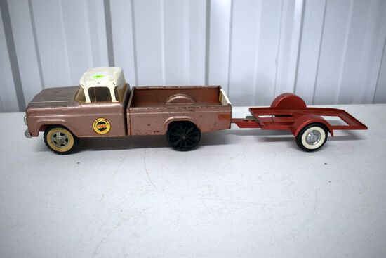 1960s Nylint Speedway Special Ford Truck, No Box, With Nylint Trailer