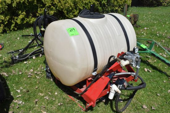 Fimco 3 Point Sprayer, 125 Gallon Tank, PTO Pump, Has Boom, Booms Are Not Attatched, 21' Booms,