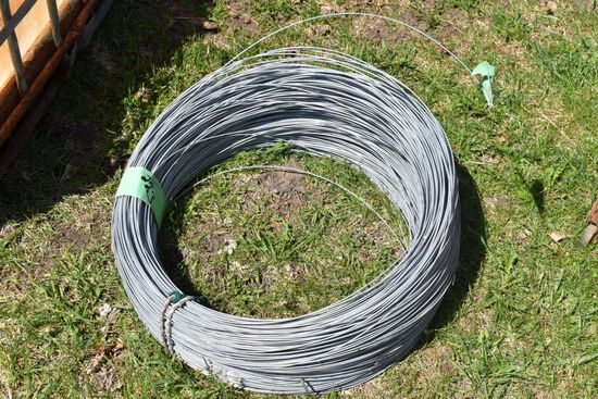 Spool Of Smooth Wire For Fencing