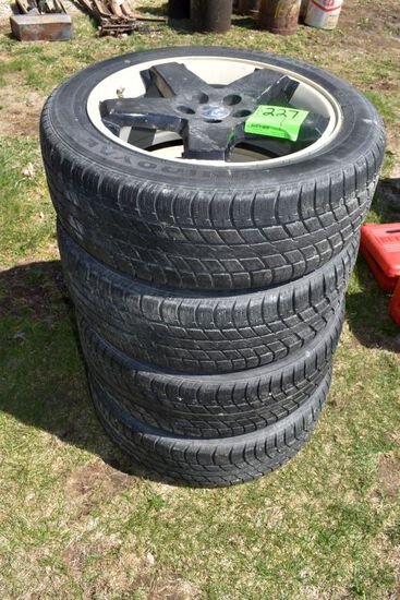 (4) Tiger Paw 215/55R18 Tires On Dodge Rims