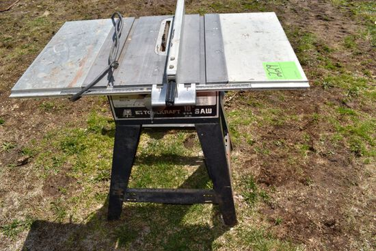 ToolKraft 10'' Electric Table Saw On Stand
