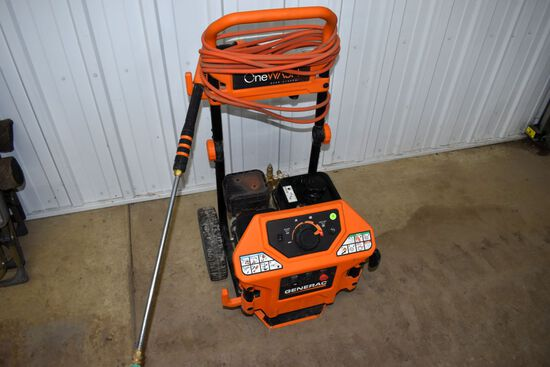 Generac Gas Pressure Washer, Cold Water, 2000 To 3100PSI, Wand And Hose, Runs