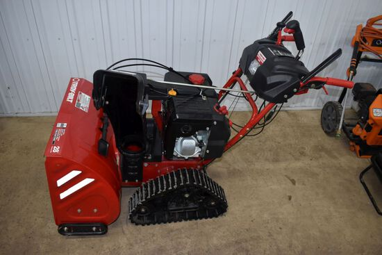 Troy Built Vortex Tracker 2890 Self Propelled Snow Blower, Tracks, Electric Start, 28'', 357cc Gas M