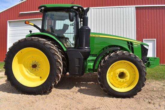 2014 John Deere 8270R MFWD Tractor, 232 Actual One Owner Hours, ILS, IVT, 480/80R50 Rear Duals, 380/