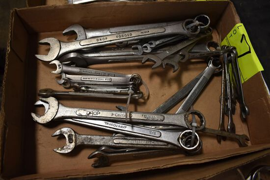 Large Assortment Of Combination Wrenches All Standard