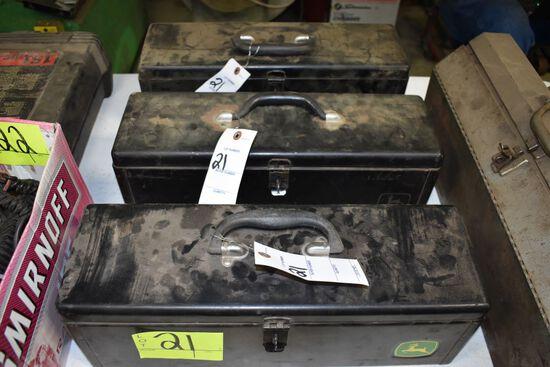 (3) John Deere Mounted Tool Boxes