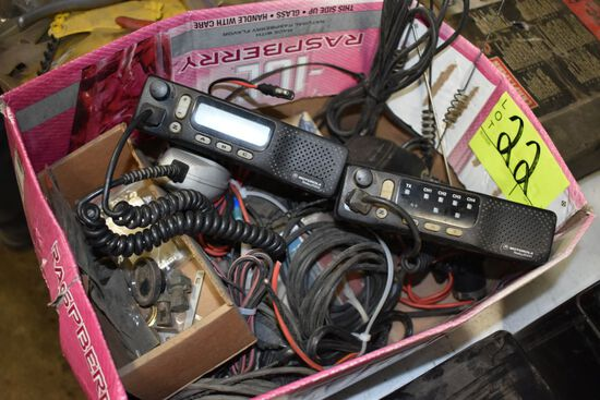(3) 2 Way Radios With Assortment Of Cables And Antennas