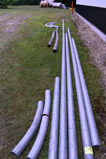 "Air System Pipe Approx 250' x 4"" Straight Pipe & Bends And 20' x 4"" Flexpipe, Approx 100' already on"