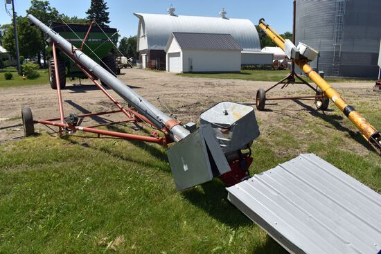 "Mayrath 8""x43' Grain Auger 7.5HP Single Phase Electric Motor"