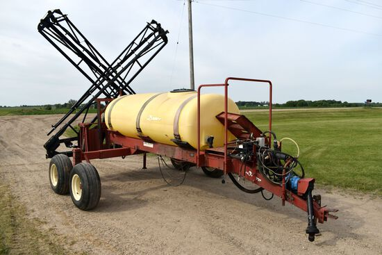 Demco Model HP 500 Crop Sprayer, 500 Gallon, Tandem Axle, X-Fold 60' Booms, 540 PTO Pump, Hydraulic