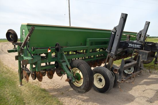 "Great Plains Solid Stand 20 Grain Drill, 20' x 12"", Markers, 3pt, Many Extra Parts From Coverting It"