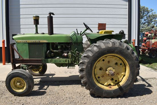 John Deere 3020 Gas Tractor, Open Station, 5773 Hours, Power Shift, 540/1000PTO, 3pt QH, 2 Hydraulic