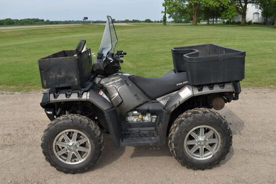 2012 Polaris Sportsman 550 ATV AWD, EFI, 1928 Miles, 442 Hours, Windshield