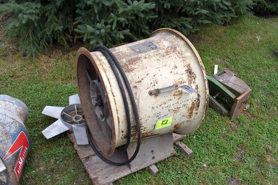 """Butler 24"""" Bin Fan With 7.5HP Single Phase Motor"""