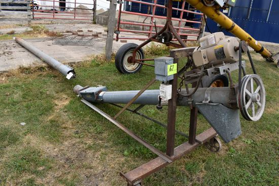 "6"" Jump Auger With 2HP Single Phase Motor, 13' Straight Auger & 8' Incline Auger"