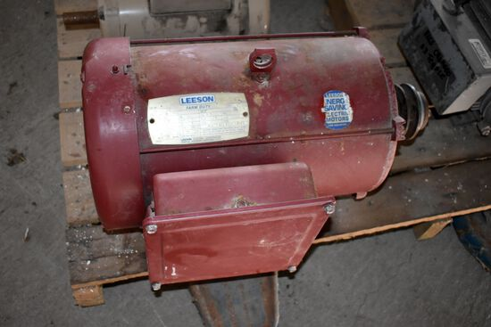 Leeson 7.5HP Single Phase Electric Motor