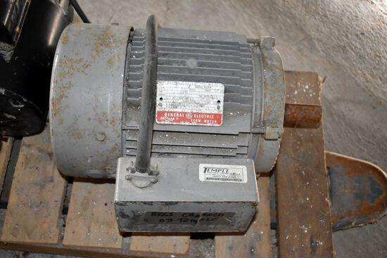 GE 3HP Single Phase Electric Motor