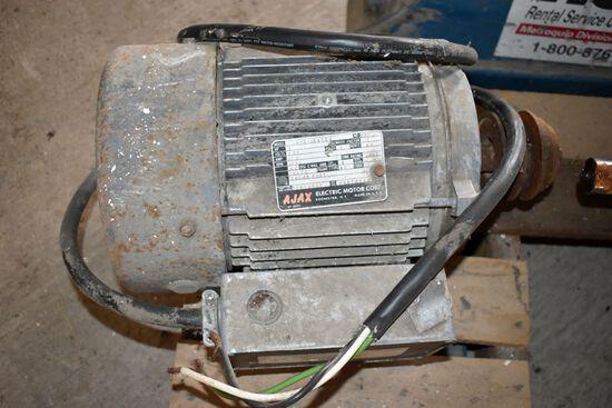 AJAX 3HP Single Phase Electric Motor