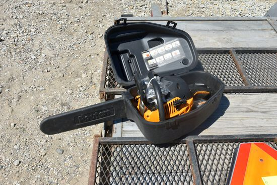 "Poulan Pro 18"" Bar Chain Saw With Case"