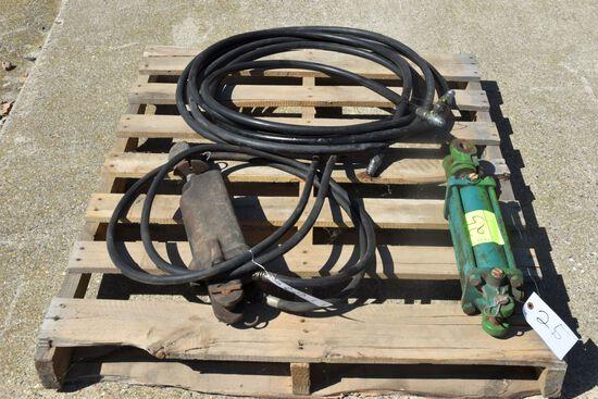 2 Hydraulic Cylinders, Hydraulic Hose