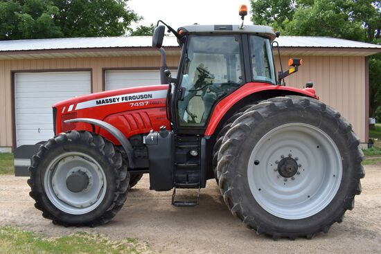 2011 Massey Ferguson 7497 MFWD Dyna-VT, 932 Actual Hours, 480/80R46 With Duals 98%, All Michelin Tir