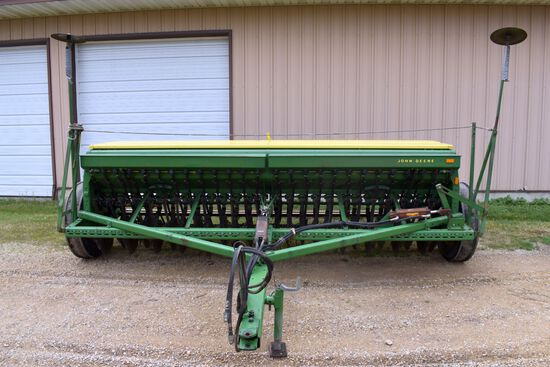"John Deere 8300 Grain Drill, 13'x 6"" Spacings, Small Grass Attachment, Markers"