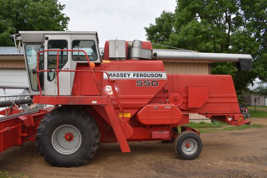 1985 Massey Ferguson 550 Hydro, Diesel, 2956 Engine Hours, 23.1x26 Tires, Chopper/Spreader, 10 Rear