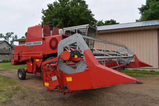 "1984 Massey Ferguson 9120 Bean Head 20', 3"" Cut, Aluminum New Style Reel, SN: E000444, Nice"