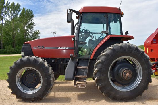 1997 Case IH MX135 MFWD, 10,315 Hrs, 18.4x38 Michelin 90%, 4x4 Partial Power Shift, Left Hand Revers