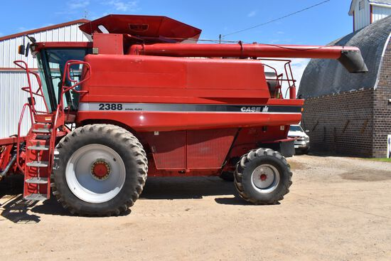 1998 Case IH 2388 Combine, 3398 Sep/4761 Eng Hours, Ag Leader Monitor, Rock Trap, Field Tracker, 18.