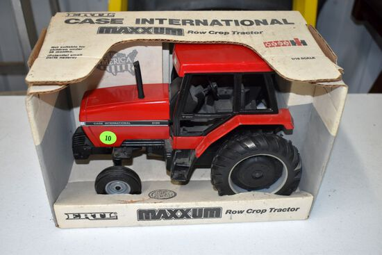 Ertl Case IH Maxxum 5120 Row Crop Tractor, 1/16th Scale, With Box