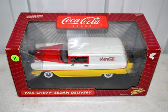 Playing Mantis 1955 Chevy Sedan Delivery Coca Cola Car, With Box