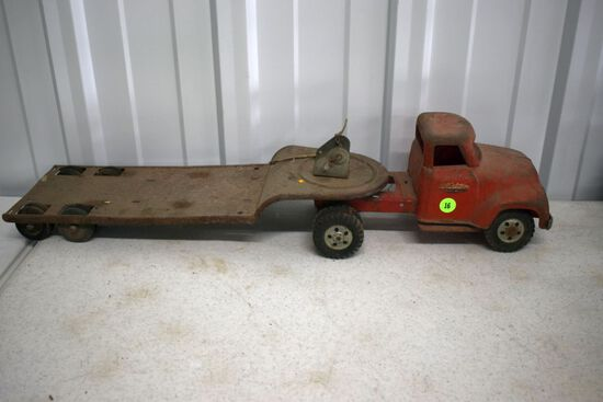 1950s Tonka Truck And Trailer, Has Wear