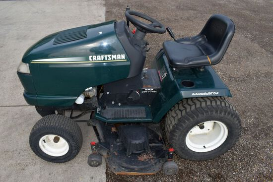 Craftsman Riding Lawnmower, 430 Hours, 24Hp Kohler Engine, Hydrostatic, 50'' Deck, Runs Good, Seat I